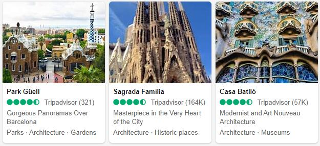 Barcelona Attractions and Tourist